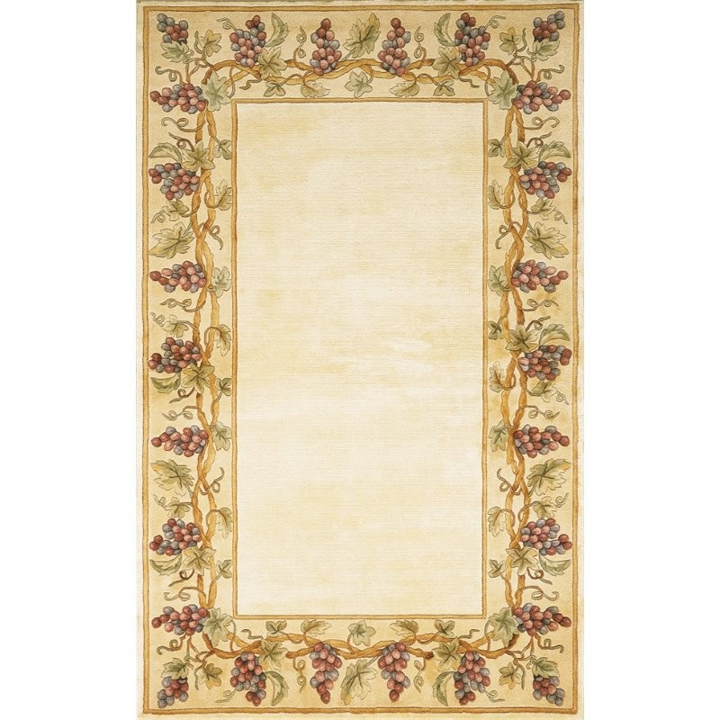 9x12 New Nourison Nourmak Hand Knotted Wool Reversible: KAS Emerald 2' X 3' Hand-Tufted Wool Rug In Ivory