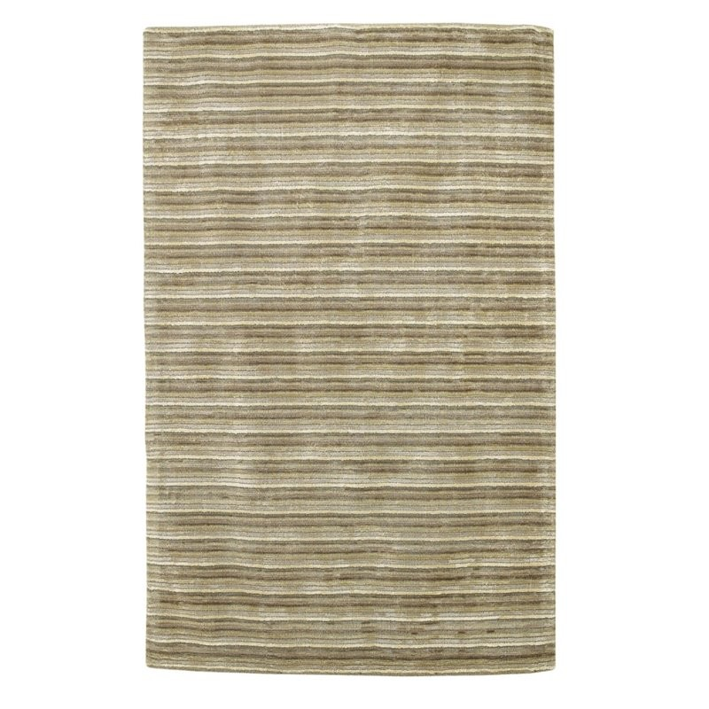 12 10 X 14 11 Persian Karajeh Hand Knotted Wool: KAS Transitions 8' X 10' Hand-Tufted Wool Rug In Platinum