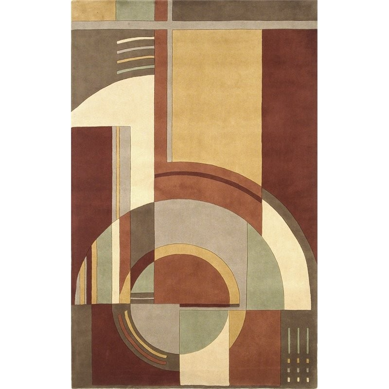 12 10 X 14 11 Persian Karajeh Hand Knotted Wool: KAS Signature 8' X 11' Hand-Tufted Wool Rug In Rust