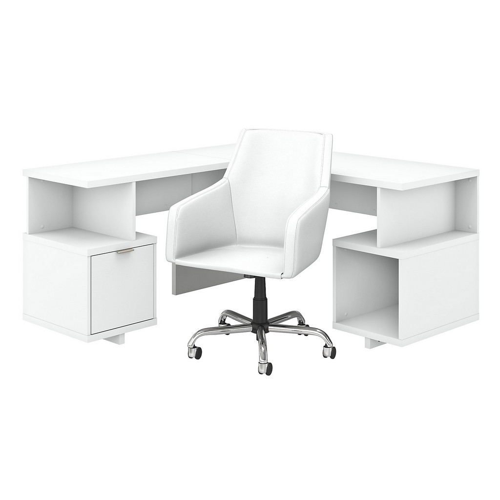 Kathy Ireland® Home Madison Avenue 60W L Shaped Desk And