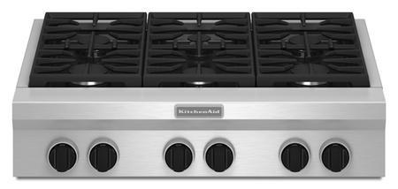 Kitchenaid KGCU467VSS 36 Inch Pro-Style Rangetop