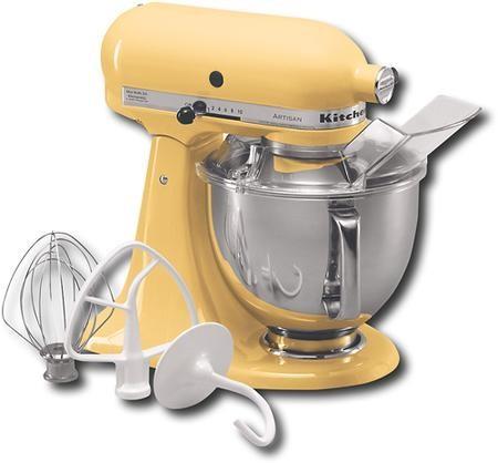 Kitchen Aid Ksm150psmy Artisan Tilt Head Stand Mixer In Majestic Yellow Discount Bandit