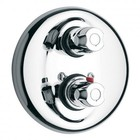 LaToscana 3TCR690TC001EX 2-Handle Thermostatic Valve Trim Kit with Volume Control in Chrome (Valve Not Included)