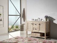 """Legion Furniture WH5148 48"""" Solid Wood Sink Vanity With Marble Top-No Faucet in White Wash"""