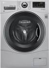 """LG WM3488HS 24"""" Compact All-In-One Washer/Dryer with 2.3 cu. ft. Capacity  1400 RPM  14 Wash Cycles  TrueBalance Anti-Vibration System  LoadSense  and 4 Drying Levels: Stainless Steel"""