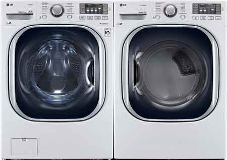 Lg White Front Load Laundry Pair With Wm4370hwa 27 Quot Washer