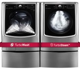 LG TwinWash Graphite Steel Front Load Laundry Pair with WM9000HVA 29