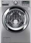 """LG WM3670HVA 27"""" Energy Star Qualified Front Load Washer with 4.5 cu. ft. Ultra Large Capacity  12 Wash Programs  Allergiene Cycle  Steam Option  and Child Lock: Graphite Steel"""