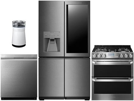 LG Signature 3 Piece Kitchen Appliance Package with LUPXC2386N 36\