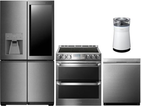 LG Signature 3 Piece Kitchen Appliance Package with LUPXS3186N 36\