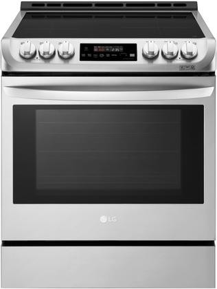 LG LSE4616ST Slide In Range With Induction Cooktop 6.3 Cu. Ft. Capacity  Double Oven ProBake And ...