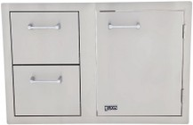Lion L3320 Stainles Steel Drawer Combo with Towel Rack