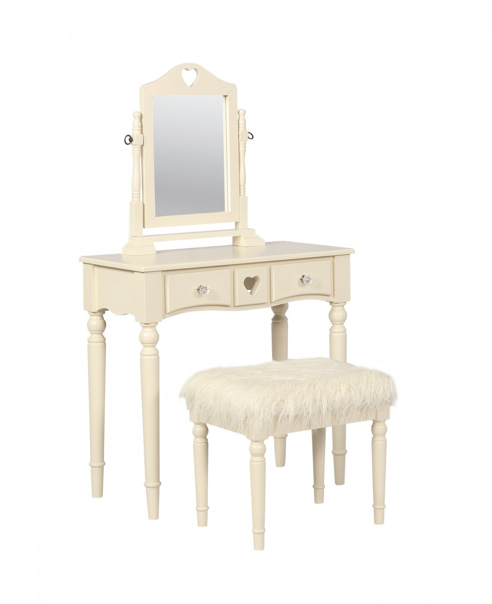 Home Decor Products Inc: Linon Home Decor Products Inc. Sadie White Youth Vanity 2