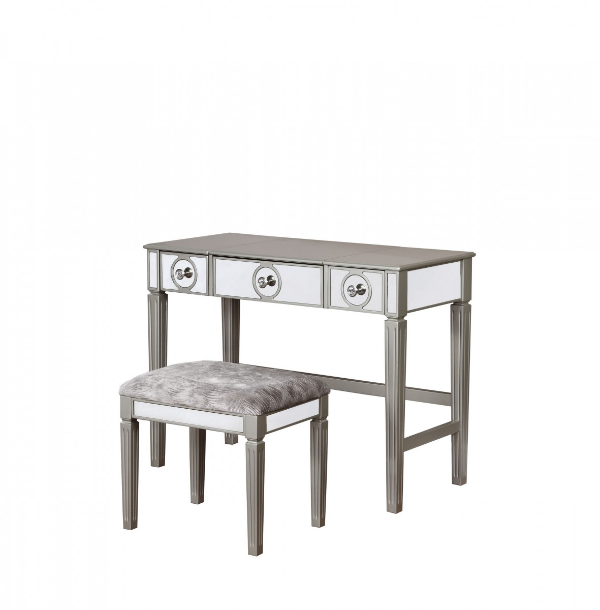 Linon Home Decor Products Inc. Madison Silver Vanity 2