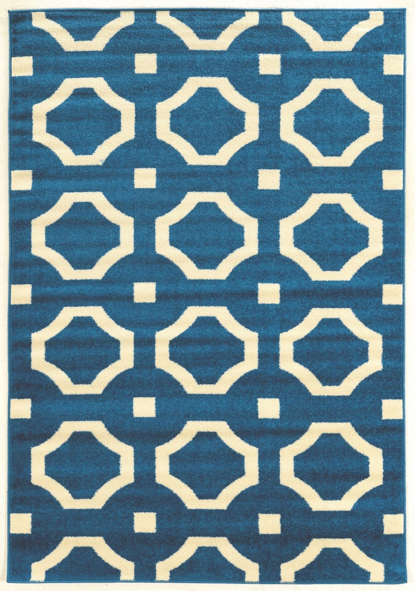 Linon Home Decor Products Inc Claremont Octagon Blue