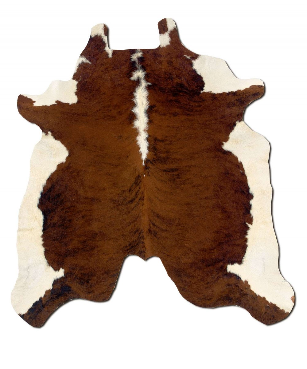 Home Decor Products Inc: Linon Home Decor Products Inc. Cowhide Brown/White Full