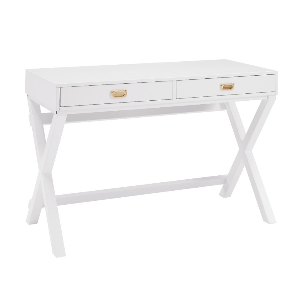 Home Decor Products Inc: Linon Home Decor Products Inc. Peggy White Writing Desk