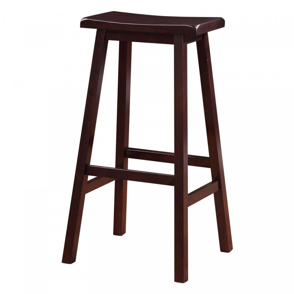 "Home Decor Products Inc: Linon Home Decor Products Inc. Dark Brown 29"" Saddle Stool"