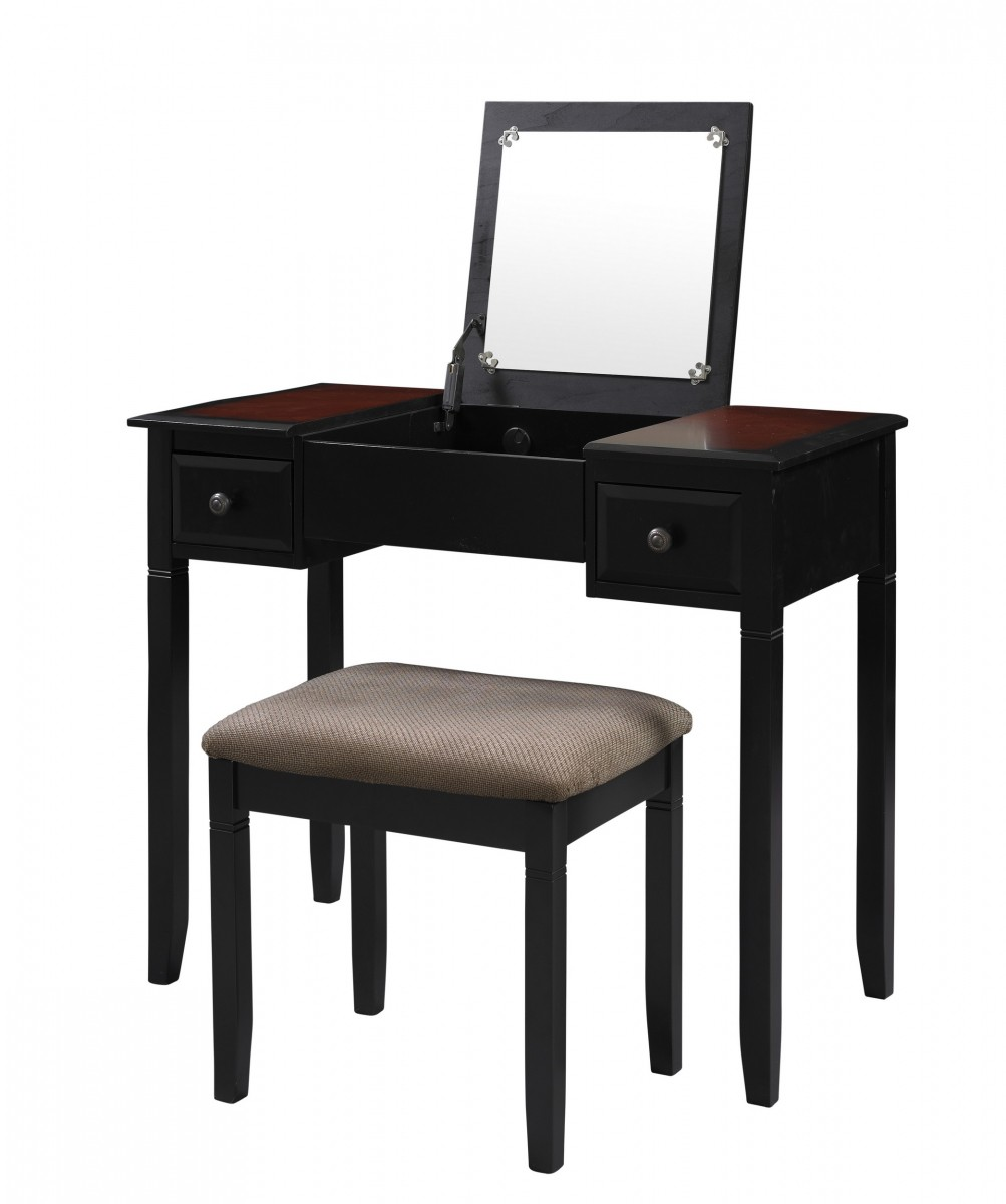 Linon Home Decor Products Inc. Camden Black Cherry 2-Piece