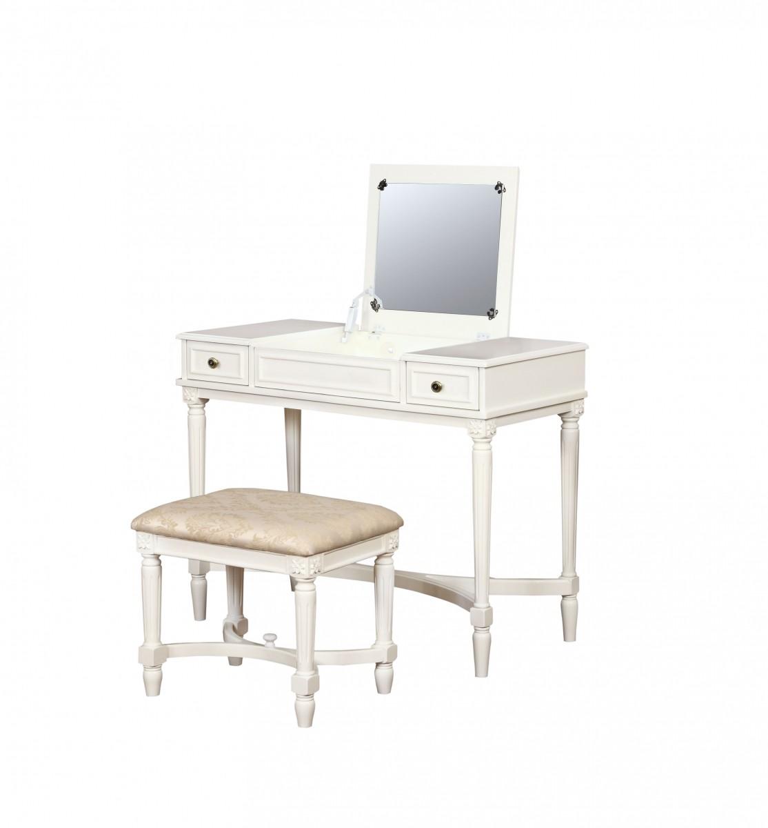 Linon Home Decor Products Inc. Cyndi White 2-Piece Vanity