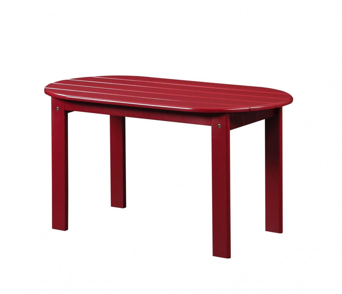 Home Decor Inc: Linon Home Decor Products Inc. Red Adirondack Coffee Table