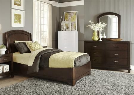Liberty Furniture Avalon Collection 505 YBR TPLDM 3 Piece Bedroom Set With  Twin Panel Bed Dresser ...