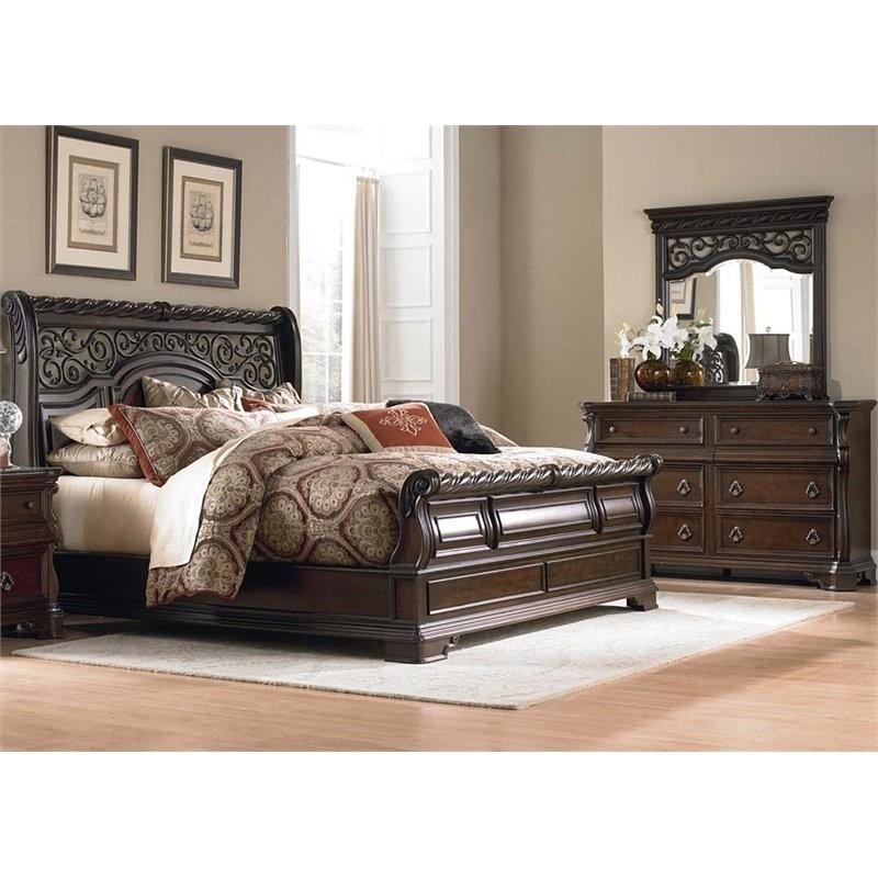 Liberty Furniture Arbor Place 3 Piece Queen Sleigh Bedroom Set