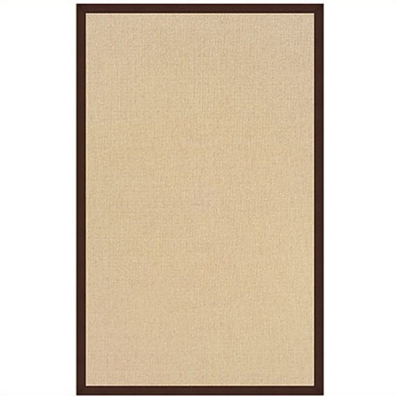 Linon Athena Cotton Rug In Natural And Brown 2 6 Quot X 12
