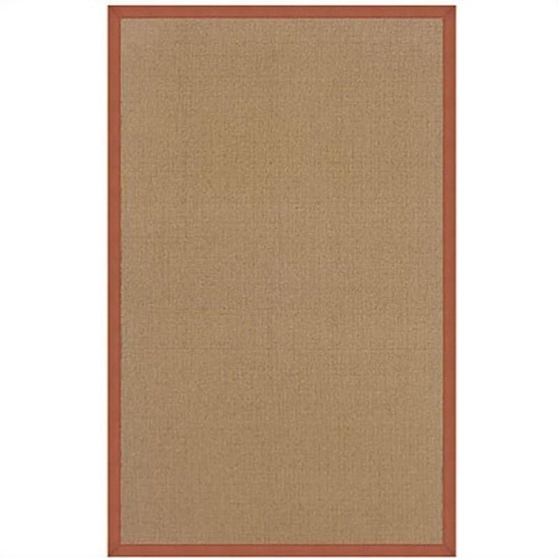 Linon Athena Cotton Rug In Cork And Burnt Orange 9 10 Quot X 13