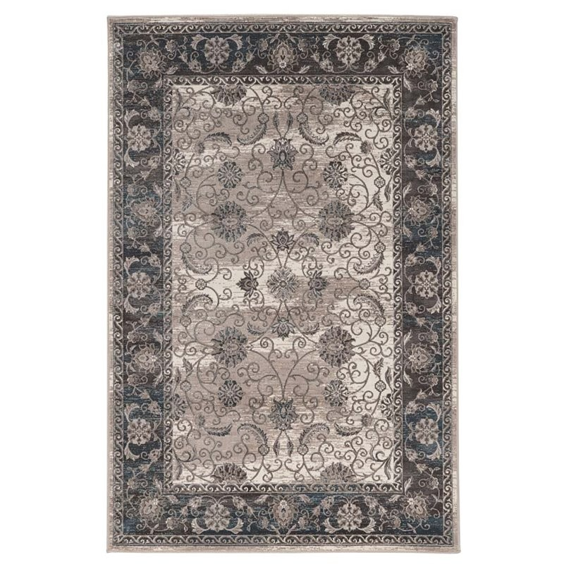 Linon Vintage 8' X 10' Isfahan Power Loomed Rug In Ivory