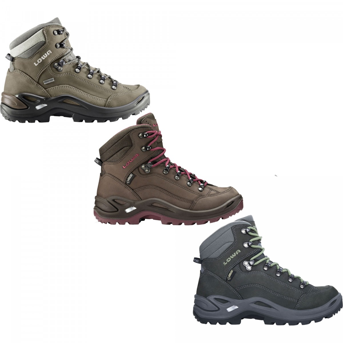 lowa women 39 s renegade gtx mid hiking boots discount bandit. Black Bedroom Furniture Sets. Home Design Ideas