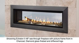 """Majestic Echelon II ECHEL36STIN 36"""" Natural Gas See-Through Top Direct Vent Fireplace with IntelliFire Plus Ignition System  30 000 BTU and LED Lighting"""