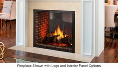 """Majestic Marquis II MARQ42STIN 42"""" See-Through Natural Gas Direct Vent Fireplace with IntelliFire Touch Ignition 3100 sq. ft. Heating Capacity and Touch Screen Remote Included"""