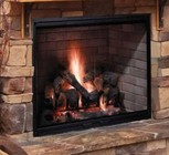 """Majestic SB60 Biltmore 36"""" Radiant Wood Burning Fireplace with 1 026 sq. in. Viewing Area  Dual Gas Knockouts  and Full Refractory Firebox with Traditional Molded Firebrick"""