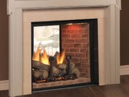 """Majestic KSTDVP500NTSC Marquis 48"""" ClearView See-Through Direct Vent Natural Gas Fireplace Up to 56 000 BTUs with Ceramic Glass and Signature Command System"""