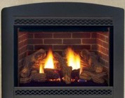 """Majestic 500MDVPNSC Cameo 42"""" Direct Vent Gas Fireplace Up to 30 000 BTUs with Tempered Glass  Signature Command System and Certified Safety Barrier"""