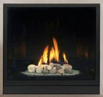 """Majestic BLDV300NSCSL Solitaire 33"""" Direct Vent Gas Fireplace Up to 22 000 BTUs with Clean Face Design  Signature Command System and Certified Safety Barrier"""