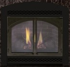 """Majestic 300DVBNVSL 33"""" Direct Vent Gas Fireplace Up to 21 000 BTUs with Ember Bed Burner with Fibre Ceramic Logs  Millivolt Ignition and Certified Safety Barrier"""