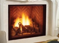 """Majestic Marquis KHLDVP500NTSC 48"""" Direct Vent Fireplace with Clear View Ceramic Glass  Signature Command System  50 000 BTU and Safety Barrier: Natural Gas"""