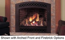 """Majestic Lexington LX32DVNSL 32"""" Direct Vent Top/Rear Convertible Fireplace with Millivolt Control  36 000 BTU  Heat Activated Variable Blower and Ceramic Glass: Natural Gas"""