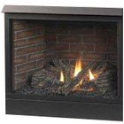 "Majestic 42CFDVPVSL 42"" Rear/Top Convertible Direct Vent Fireplace  LP Gas  Millivolt Ignition"