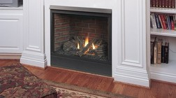 """Majestic Patriot 36CFDVNVSL 36"""" Rear/Top Convertible Direct Vent Natural Gas Fireplace with Clean Face Design  Millivolt Ignition and Uses SLP Pipe"""