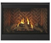 """Majestic DBDV42IL 49"""" Meridian Series Liquid Propane Fireplace with 42"""" Viewing Area  35000 BTU and Intellifire Plus IPI Ignition System"""