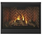 """Majestic DBDV42IN 49"""" Meridian Series Natural Gas Fireplace with 42"""" Viewing Area  35000 BTU and Intellifire Plus IPI Ignition System"""