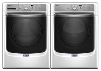 Maytag White Front Load Laundry Pair with MHW8200FW 27