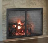 """Majestic SB100 Biltmore 50"""" Radiant Wood Burning Fireplace with 1 650 sq. in. Viewing Area  Dual Gas Knockouts  and Full Refractory Firebox with Traditional Molded Firebrick"""
