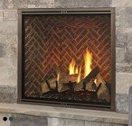 """Majestic Marquis II Series MARQ42IN 42"""" Direct Vent Natural Gas Fireplace with 54 500 BTU Capacity  ClearView Glass and LED Accent Lighting"""