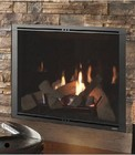 """Majestic Marquis II Series MARQ36IN 36"""" Direct Vent Natural Gas Fireplace with 44 000 BTU Capacity  ClearView Glass and LED Accent Lighting"""