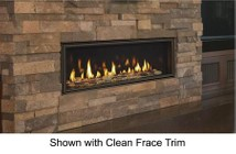 """Majestic Echelon II Series ECHEL48IN 48"""" Natural Gas Fireplace with 40 000 BTU Capacity  Direct Vent Technology and 1300 sq. ft. Heat Range"""