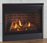 """Majestic Quartz Series QUARTZ36IN 36"""" Top/Rear Direct Vent Fireplace with 24 000 Max BTU  Full Firescreen Front & Hood and IntelliFire Ignition - Natural Gas"""
